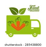 delivery food design  vector... | Shutterstock .eps vector #285438800