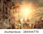 one of the famous popular... | Shutterstock . vector #285444770
