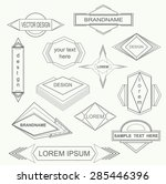 set of hipster labels. vintage... | Shutterstock .eps vector #285446396