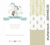 wedding romantic card design ... | Shutterstock .eps vector #285448130