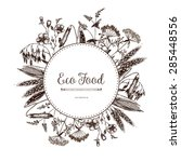 vector eco food card design...   Shutterstock .eps vector #285448556