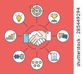 customer relationship... | Shutterstock .eps vector #285449294