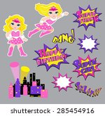 colorful cartoon text captions. ...   Shutterstock .eps vector #285454916