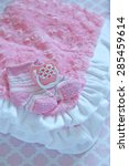 pink layette for a newborn baby ...   Shutterstock . vector #285459614