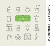 thin line web icons for coffee  | Shutterstock .eps vector #285463940