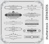 calligraphic vector design... | Shutterstock .eps vector #285465056
