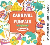 fun fair traveling circus and... | Shutterstock .eps vector #285465290