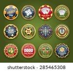 royal casino club poker game... | Shutterstock .eps vector #285465308