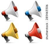 color glossy megaphone sign... | Shutterstock .eps vector #285465506