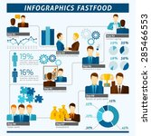 partnership infographics set... | Shutterstock .eps vector #285466553