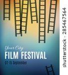 movie cinema festival poster.... | Shutterstock .eps vector #285467564