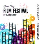 movie cinema festival poster.... | Shutterstock .eps vector #285467570
