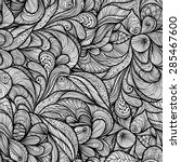 seamless pattern with lace... | Shutterstock .eps vector #285467600