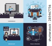 public speaking design concept... | Shutterstock .eps vector #285467756