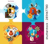 Games Design Concept Set With...