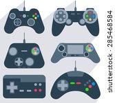 set of various gamepads ... | Shutterstock .eps vector #285468584