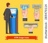 businessman using modern atm...   Shutterstock .eps vector #285470114