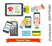 mobile payment icon set.... | Shutterstock .eps vector #285470480