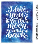 vector calligraphic hand drawn... | Shutterstock .eps vector #285474158