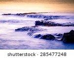 sunset at shark's cove beach... | Shutterstock . vector #285477248
