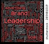 concept or conceptual text word ... | Shutterstock . vector #285481019