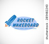 rocket wake board abstract... | Shutterstock .eps vector #285482240