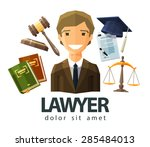lawyer  attorney  jurist vector ...   Shutterstock .eps vector #285484013