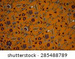 small floral pattern on fabric. ... | Shutterstock . vector #285488789