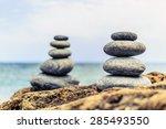 stones balance and wellness... | Shutterstock . vector #285493550