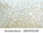 closeup of vintage gray mosaic... | Shutterstock . vector #285495248