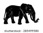 elephant  vector image  drawn ... | Shutterstock .eps vector #285499580
