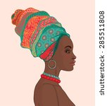 portrait of beautiful african...   Shutterstock .eps vector #285511808