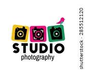 photo studio vector logo...