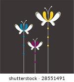 butterfly floral design | Shutterstock .eps vector #28551491