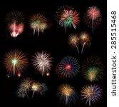 set of colorful fireworks light  | Shutterstock . vector #285515468