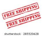 rubber stamp design free... | Shutterstock .eps vector #285520628