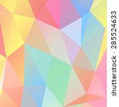 abstract low poly. polygonal... | Shutterstock .eps vector #285524633