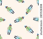 skiers   cartoon seamless... | Shutterstock . vector #285528308