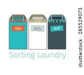 tissue baskets for sorting... | Shutterstock .eps vector #285529073