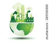 green city with green eco earth ... | Shutterstock .eps vector #285530300