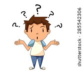 confused child  shrugging... | Shutterstock .eps vector #285542306