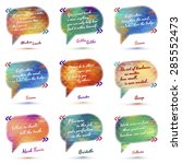typographical background... | Shutterstock .eps vector #285552473