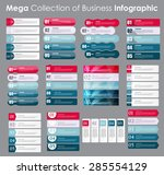 set of infographic templates... | Shutterstock .eps vector #285554129