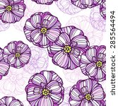 seamless floral pattern with... | Shutterstock .eps vector #285564494