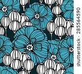 seamless floral pattern with...   Shutterstock .eps vector #285564590