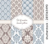 set of seamless damask patterns. | Shutterstock .eps vector #285565490