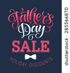 father's day sale vector... | Shutterstock .eps vector #285566870