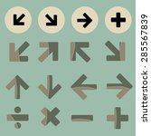 math icon set made in vector  | Shutterstock .eps vector #285567839