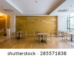 luxury cafe interior and...   Shutterstock . vector #285571838