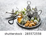 islamic holidays food with... | Shutterstock . vector #285572558